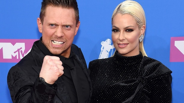 The Miz and Maryse Quellet attend the 2018 MTV Video Music Awards at Radio City Music Hall on August 20, 2018 in New York City.