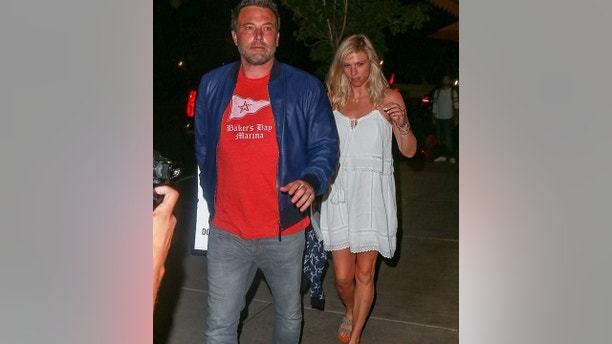 Los Angeles, CA  - Ben Affleck and Lindsay Shookus go to dinner at Pizzeria Mozza in Los Angeles. The Oscar winner, 44, and his new girlfriend, 37, were spotted out on vacation in Maine over the weekend. Ben recently wrapped filming on Justice League and is enjoying his summer with his new girlfriend.
