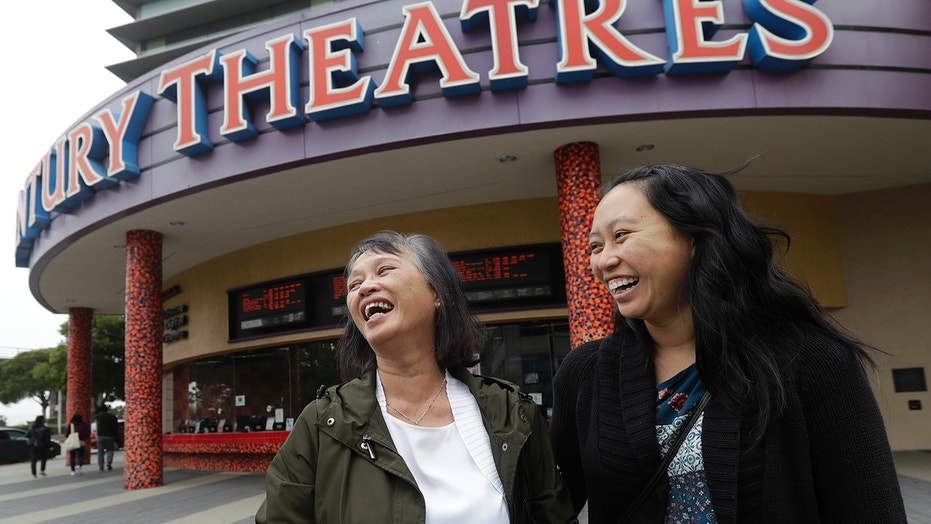 Alice Sue, left, and her daughter Audrey Sue-Matsumoto chortle while interviewed after staring on the film
