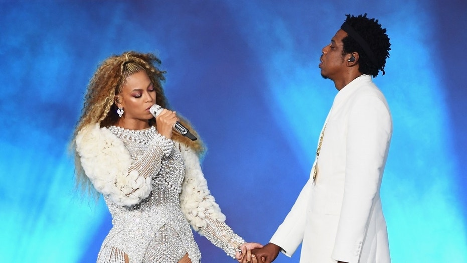 A man stormed onto the stage when Beyonce and Jay-Z finished their gig in Atlanta on Saturday night.