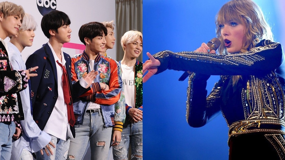 K-pop band BTS beats Taylor Swift's YouTube record for most video