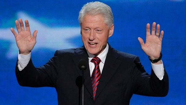 Sept. 5, 2012: Former President Bill Clinton addresses the Democratic National Convention in Charlotte, N.C.