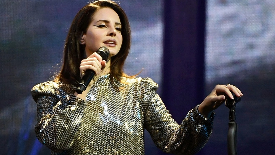 "Singer/songwriter Lana Del Rey performs during a stop of her LA to the Moon Tour in support of the album ""Lust for Life"" at the Mandalay Bay Events Center on February 16, 2018 in Las Vegas, Nevada."