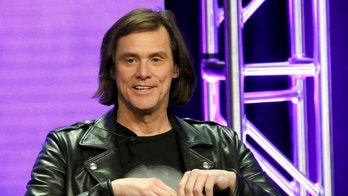 """CORRECTS DATE TO MONDAY, AUG. 6 - Jim Carrey participates in the """"Kidding"""" panel during the Showtime Television Critics Association Summer Press Tour at The Beverly Hilton hotel on Monday, Aug. 6, 2018, in Beverly Hills, Calif. (Photo by Willy Sanjuan/Invision/AP)"""