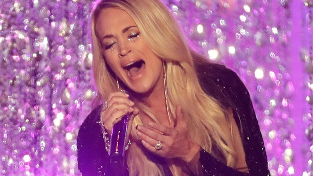 """Carrie Underwood performs """" Cry Pretty"""" at the CMT Music Awards at the Bridgestone Arena on Wednesday, June 6, 2018, in Nashville, Tenn."""