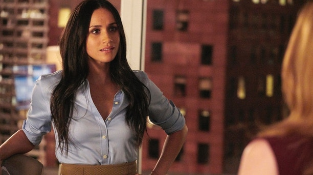 "SUITS -- ""Pulling the Goalie"" Episode 714 -- Pictured: Meghan Markle as Rachel Zane -- (Photo by: Ian Watson/USA Network)"