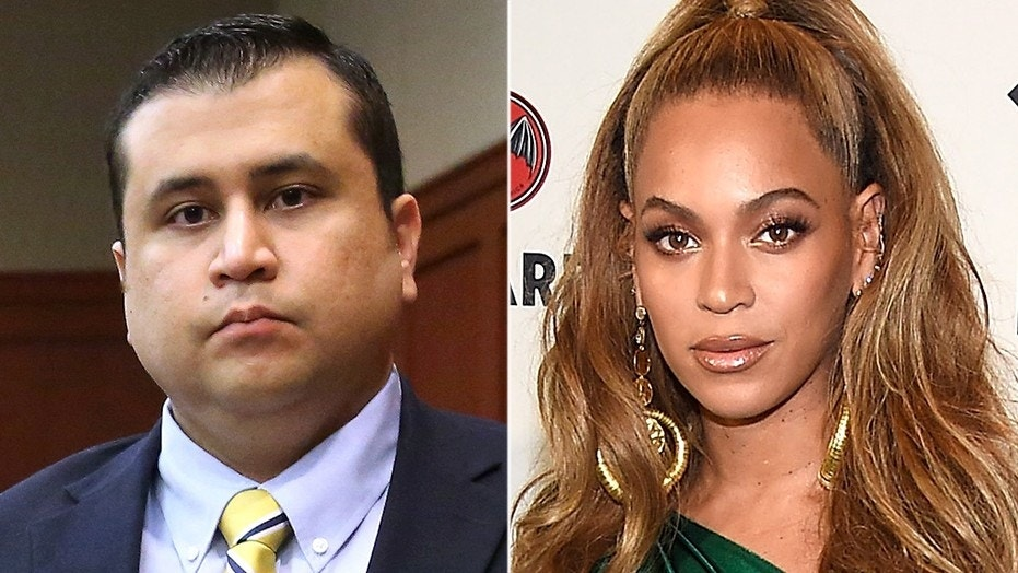 George Zimmerman has been accused of sending texts threatening Beyoncé.