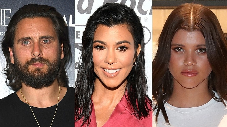 Scott Disick (left) got into a tense standoff with his ex Kourtney Kardashian (center) about his current girlfriend, model Sofia Richie.