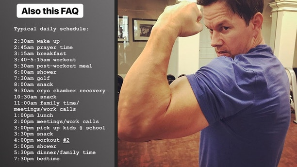 Mark Whalberg workout schedule. INSTAGRAM