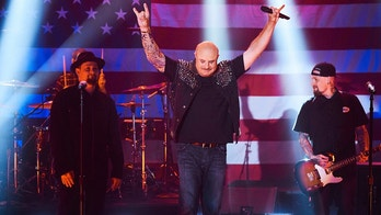 Dr. Phil and Good Charlotte perform in a sketch with James Corden during The Late Late Show with James Corden airing Thursday, September 13, 2018. Photo: Terence Patrick/CBS ©2018 CBS Broadcasting, Inc. All Rights Reserved