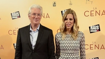 MADRID, SPAIN - DECEMBER 11:  (L-R) Richard Gere and Alejandra Silva attend the 'La Cena' (The Dinner) premiere at the Capitol cinema on December 11, 2017 in Madrid, Spain.  (Photo by Fotonoticias/WireImage)
