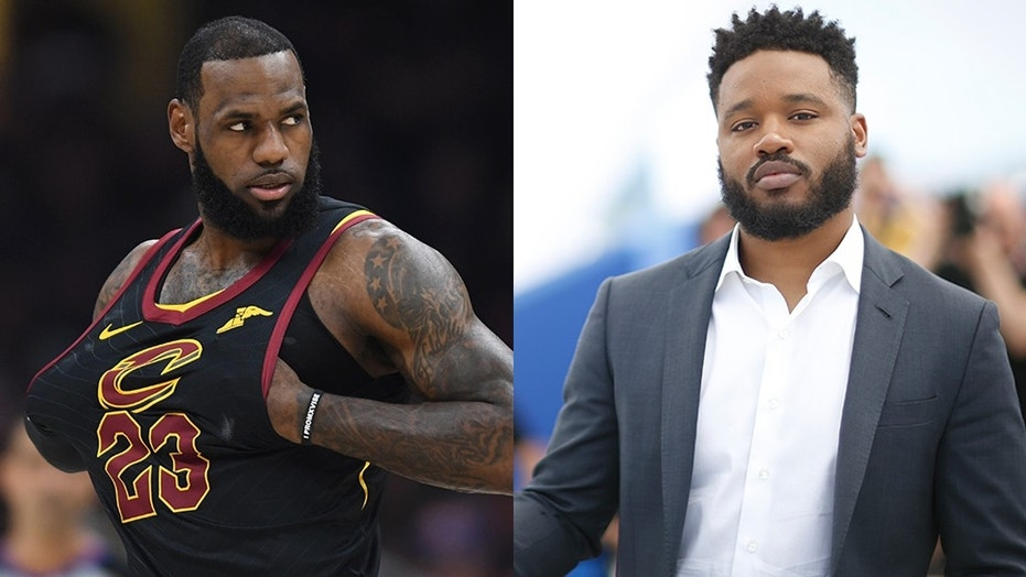 "LeBron James (left) will reportedly star in a new ""Space Jam"" movie that will be produced by filmmaker Ryan Coogler (right)"