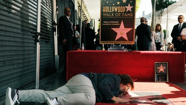 Donald Trump's Walk of Fame Star is put behind bars