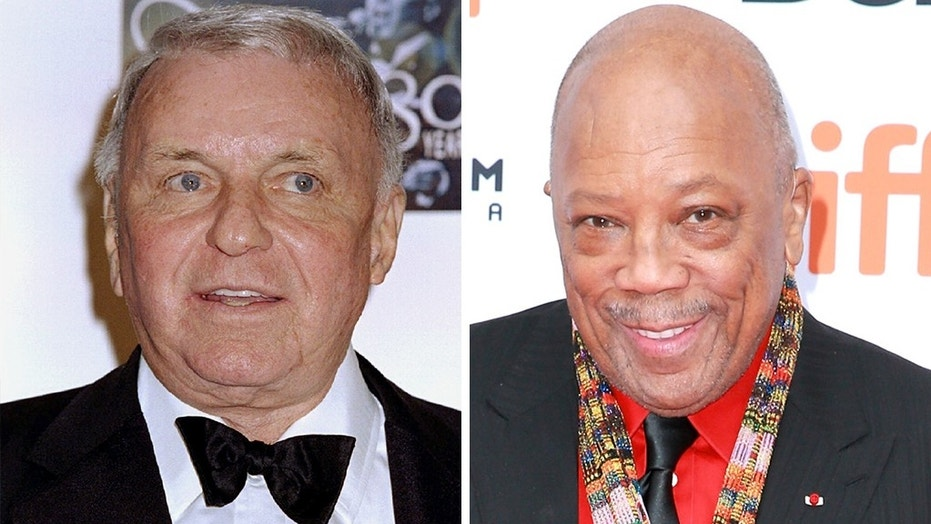 Quincy Jones, pictured in 2018, opens up about his friendship with the late Frank Sinatra, pictured in 1995.