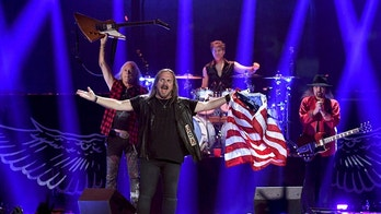 LAS VEGAS, NV - SEPTEMBER 22:  (L-R) Rickey Medlocke, Johnny Van Zant, Michael Cartellone and Gary Rossington of Lynyrd Skynyrd perform onstage during the 2018 iHeartRadio Music Festival at T-Mobile Arena on September 22, 2018 in Las Vegas, Nevada.  (Photo by Kevin Winter/Getty Images for iHeartMedia)