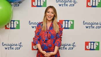 """NEW YORK, NY - AUGUST 27:  Actress and mom Hilary Duff announces the """"Imagine If, With Jif"""" contest kick off with Jif® Peanut Butter on August 27, 2018 in New York City.  (Photo by Dia Dipasupil/Getty Images for Jif)"""