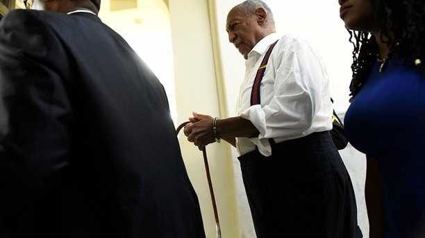 NORRISTOWN, PA - SEPTEMBER 25: Bill Cosby is taken away in handcuffs after being sentenced to 3-10 years in his sexual assault retrial at the Montgomery County Courthouse on September 25, 2018 in Norristown, Pennsylvania. In April, Cosby was found guilty on three counts of aggravated indecent assault for drugging and sexually assaulting Andrea Constand at his suburban Philadelphia home in 2004 and faces a maximum of 10 years in prison. 60 women have accused the 81 year old entertainer of sexual assault. (Photo by Mark Makela/Getty Images)