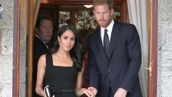 Britain's Prince Harry and Meghan Duchess of Sussex attend a Summer Party at the British Ambassador's residence in Dublin, Ireland, Tuesday July 10, 2018. The royal couple are on a two day visit to Ireland.