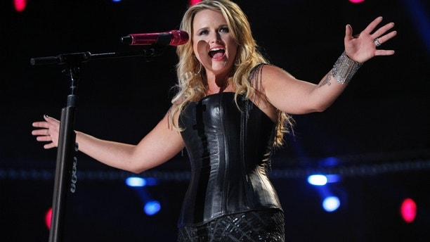 American country music artist Miranda Lambert performs during the Country Music Association (CMA) Music Festival in Nashville, Tennessee June 7, 2012.