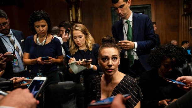 Alyssa Milano Somehow Gets Prime Seat In Kavanaugh Hearing