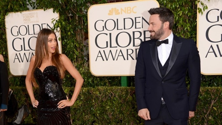 BEVERLY HILLS, CA - JANUARY 13:  Actors Sofia Vergara and Ben Affleck arrive at the 70th Annual Golden Globe Awards held at The Beverly Hilton Hotel on January 13, 2013 in Beverly Hills, California.  (Photo by Jason Merritt/Getty Images)