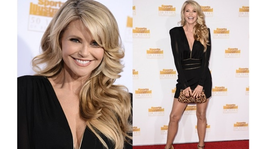 "Model Christie Brinkley arrives at the ""50 Years of Beautiful"" television event celebrating the Sports Illustrated Swimsuit Issue's 50th Anniversary at the Dolby Theatre on Tuesday, Jan. 14, 2014 in Los Angeles. (Photo by Dan Steinberg/Invision/AP)"