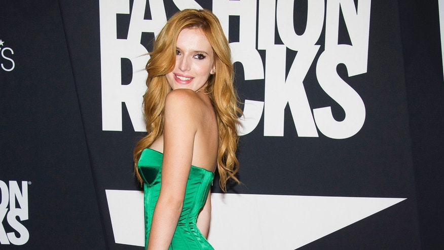 Bella Thorne attends Fashion Rocks on Tuesday, Sept. 9, 2014 at the Barclays Center in the Brooklyn borough of New York. (Photo by Charles Sykes/Invision/AP)