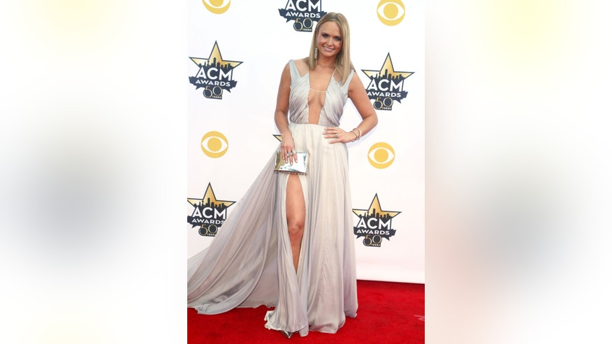 Miranda Lambert arrives at the 50th annual Academy of Country Music Awards at AT&T Stadium on Sunday, April 19, 2015, in Arlington, Texas. (Photo by Jack Plunkett/Invision/AP)