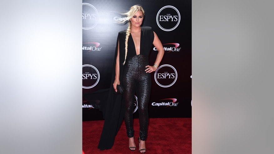 Alpine ski racer Lindsey Vonn arrives at the ESPY Awards at the Microsoft Theater on Wednesday, July 13, 2016, in Los Angeles. (Photo by Jordan Strauss/Invision/AP)