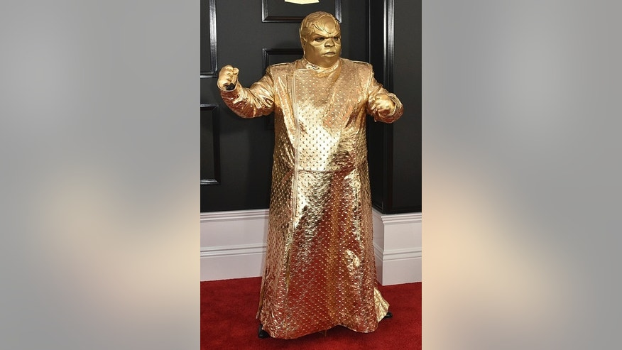 CeeLo Green as his alter ego Gnarly Davidson arrives at the 59th annual Grammy Awards at the Staples Center on Sunday, Feb. 12, 2017, in Los Angeles. (Photo by Jordan Strauss/Invision/AP)