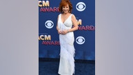 Reba McEntire arrives at the 53rd annual Academy of Country Music Awards at the MGM Grand Garden Arena on Sunday, April 15, 2018, in Las Vegas. (Photo by Jordan Strauss/Invision/AP)