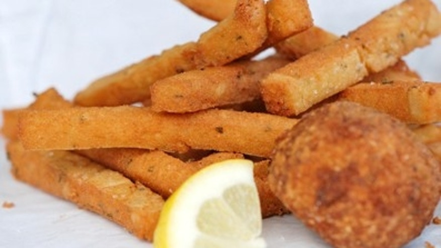Garden State's Chickpea Fries and Arancino