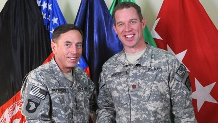 Morgan Murphy with General David Patraeus