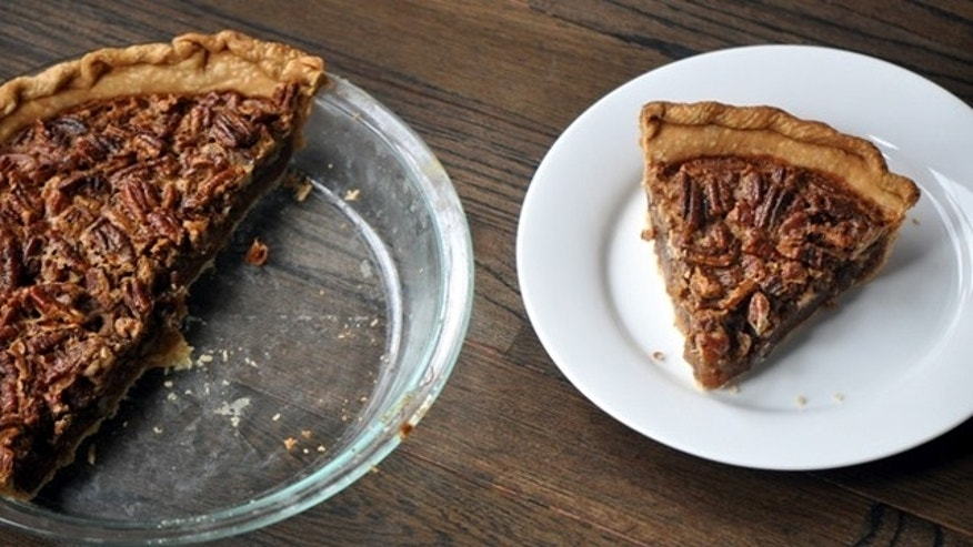 The the meal with a slice of pecan pie, a Southern favorite.