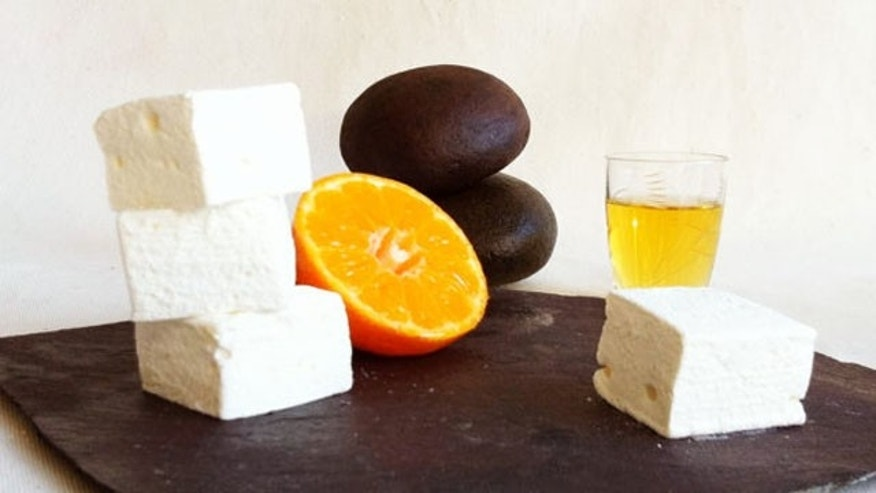 ZUKR Whisky and Mandarin Marshmallows pack a smoky punch, using peaty scotch balanced with orange and the sugary sweetness of marshmallow.