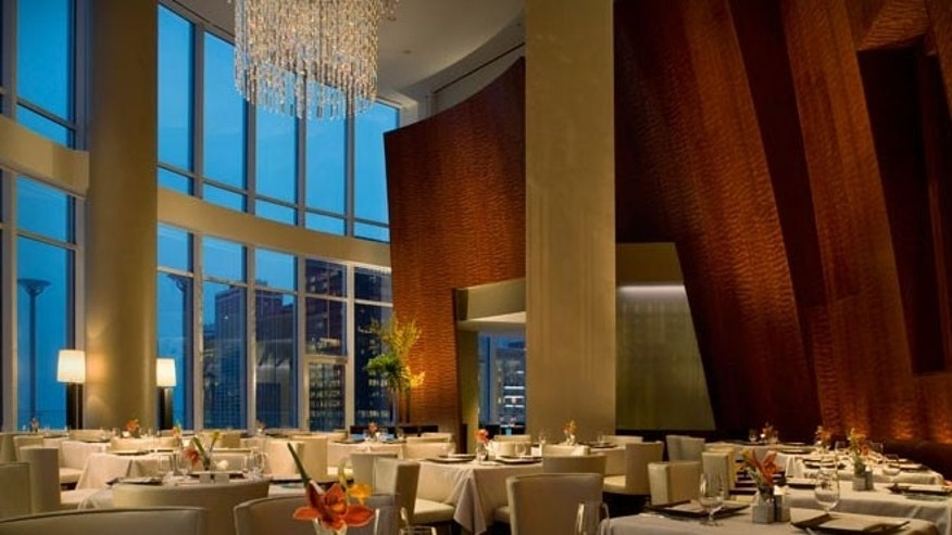 Sixteen Restaurant is located on the 16th floor of the Trump International Hotel and Tower offers majestic views of downtown Chicago (the building stands at 1,361 feet and has 92 stories).