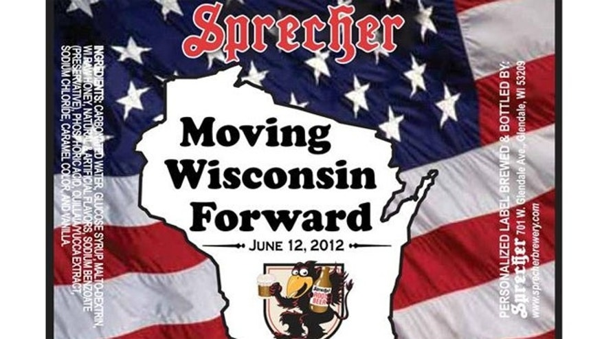 "Sprecher Brewery created a special label for its root beer that will be served at Gov. Scott Walker's ""beer and brat summit."""
