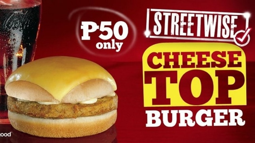 The new Cheese Top Burger is at a Philippines KFC near you!
