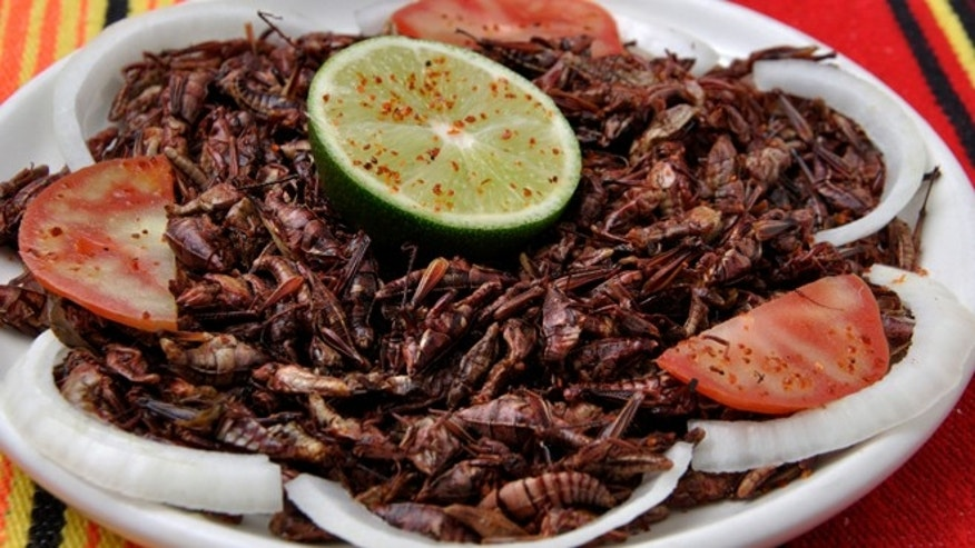 Grasshoppers (chapulines) are eaten predominantly in Mexico's Oaxaca region.