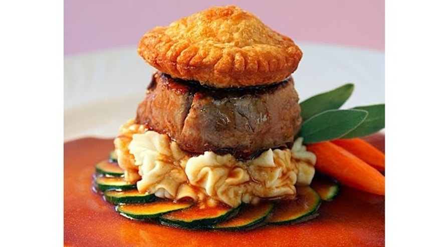 Deconstructed beef wellington at Chai's Island Bistro in Hawaii.