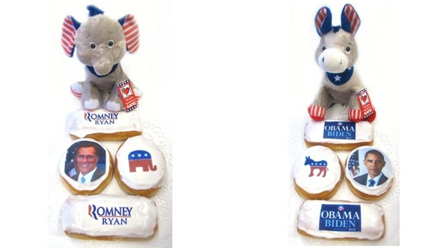 Political donuts from The Elegant Cookie in  St. Louis