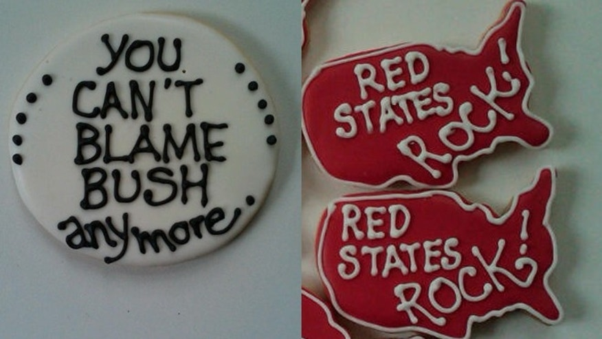 GOP-themed sugar cookies from The Political Cookie Company