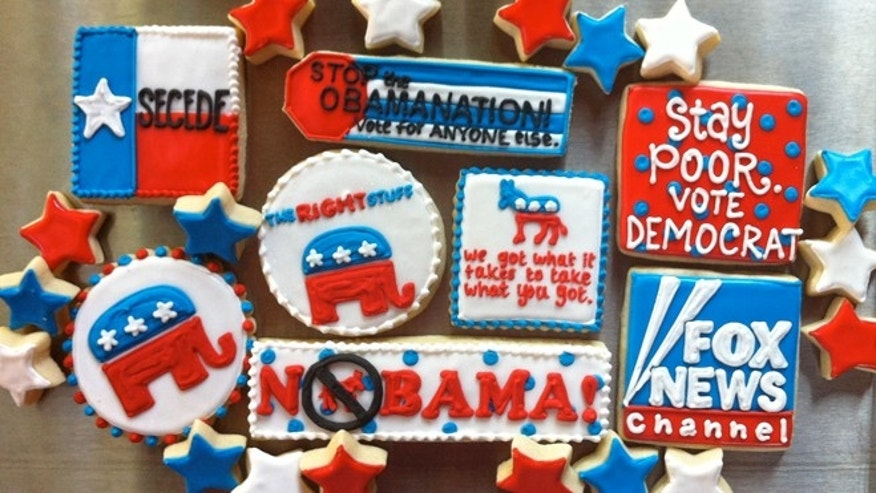 Election-themed cookies from Hayleycakes and Cookies in Austin, Texas