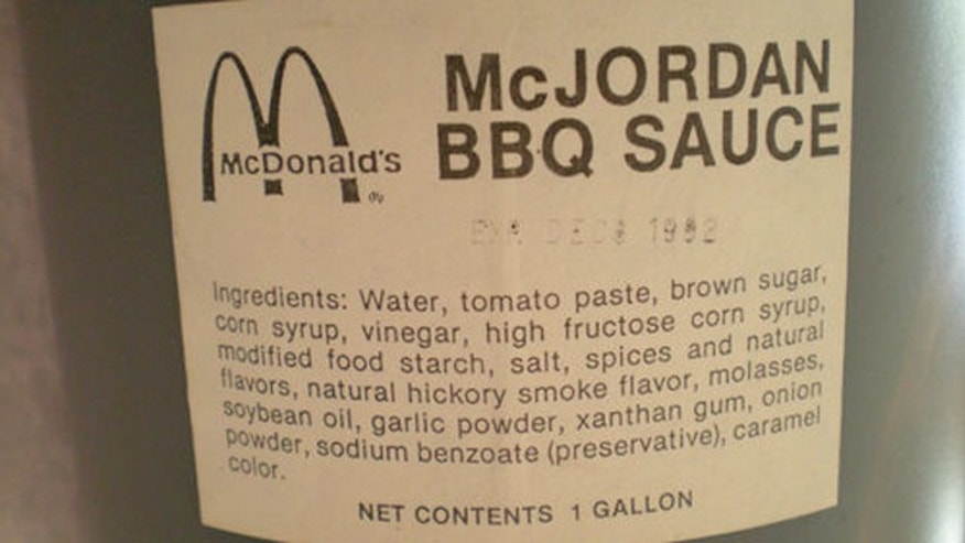 This unopened gallon of barbecue sauce designated for the McJordan sold on eBay for nearly $10,000.