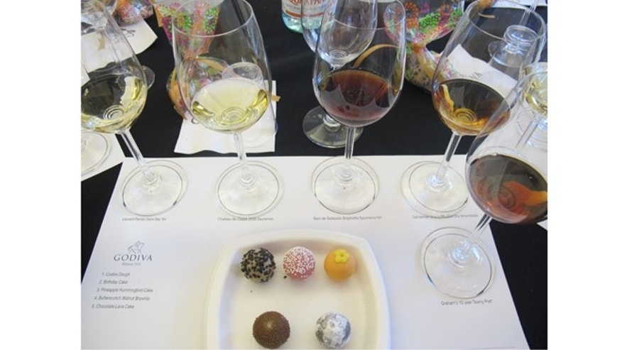 Wine and truffle pairings at the New York City Wine & Food Festival.