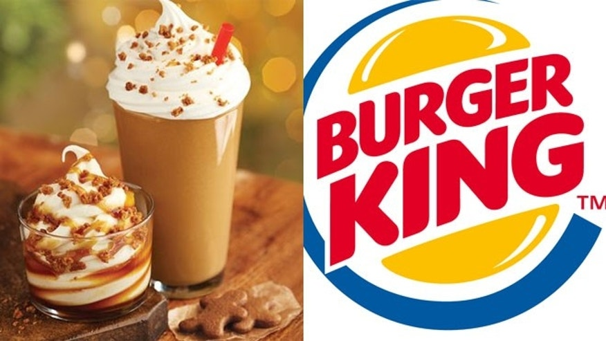 Burger King today introduced three new holiday treats: a Gingerbread Cookie Sundae, a Gingerbread Cookie Shake and Cinnabon Minibon Rolls.