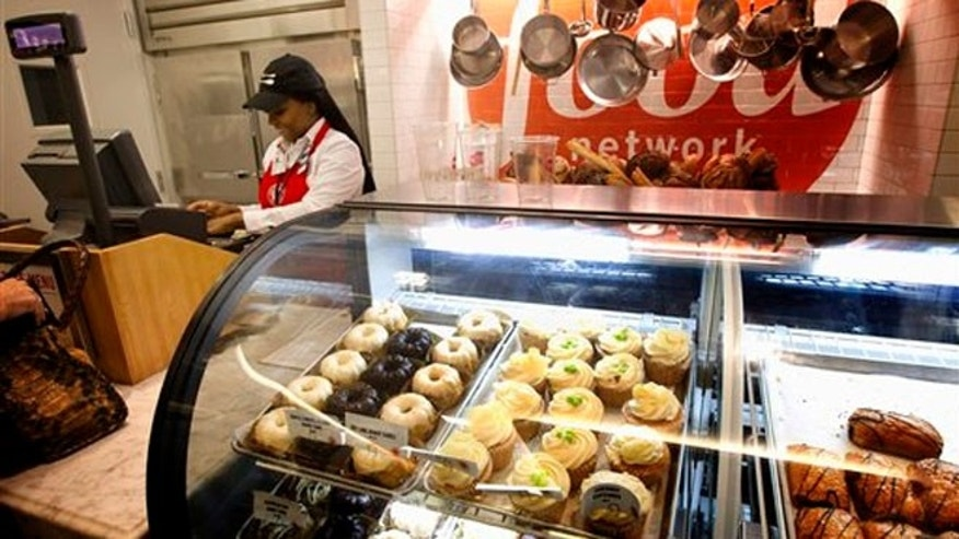 Nov. 14, 2012: Freshly made pastries appear on display for travelers at the Food Network Kitchen at the Fort Lauderdale-Hollywood International Airport, in Fort Lauderdale, Fla.