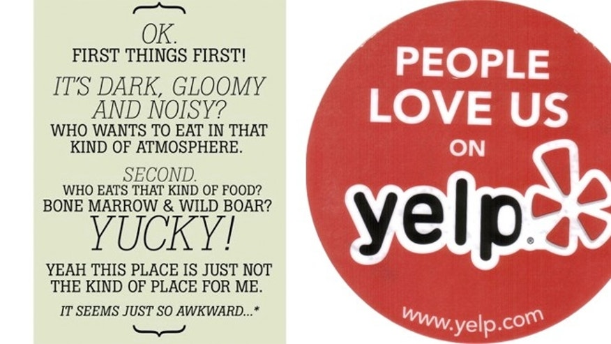 Longman & Eagle in Chicago turned negative Yelp reviews into a postcard.