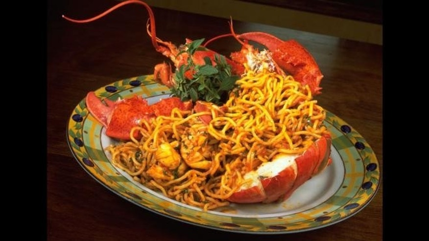 Fra Diavolo -- spicy sauce -- is served it up with lobster over pasta.