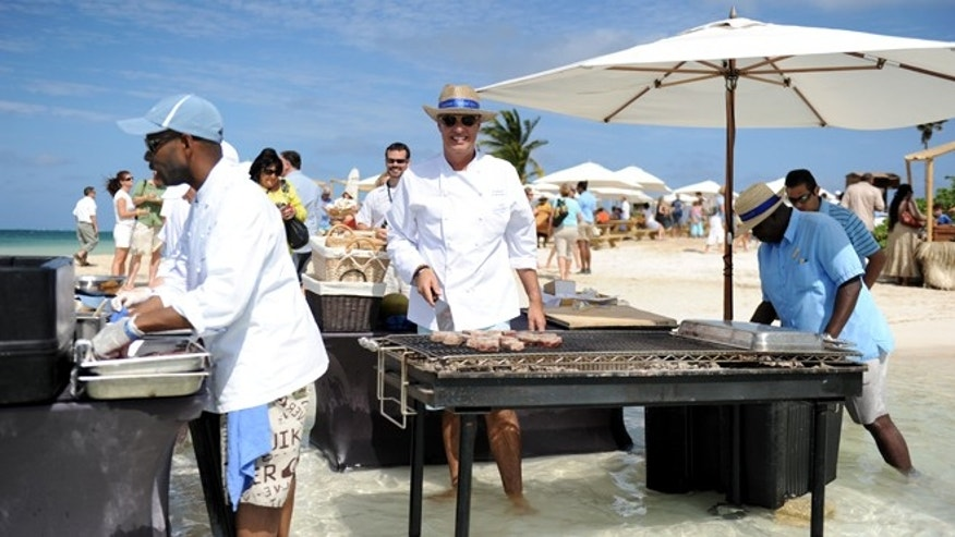 Chef Eric Ripert at Cayman Cookout's Barefoot BBQ, 2011
